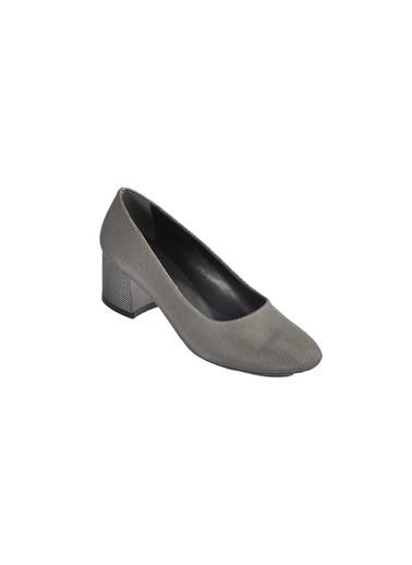 Maje 5001 Platin Kadın Topuklu Ayakkabı Gümüş